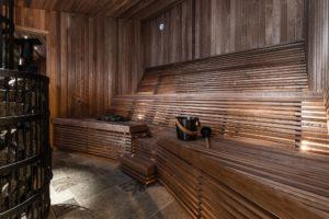 The sauna at the Arctic Bath Sweden