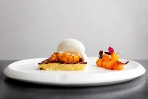 Dessert served at the Arctic Bath Restaurant Harads Sweden